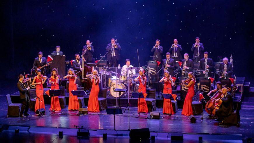 Die Eventband STEINBACH in XXL-Besetzung mit Bigband und großem Streicherensemble beim Konzert in Füssen.
