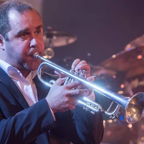Reinhard Greiner an der Trompete!