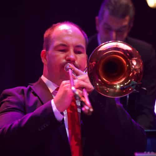 Andreas Immler spielt seit vielen Jahren Posaune bei der Bigband Steinbach