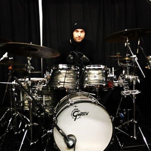 Christoph Huber am Schlagzeug