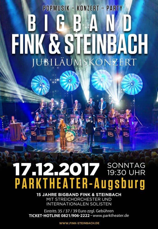 Plakat der Bigband für Auftritt in Augsburg