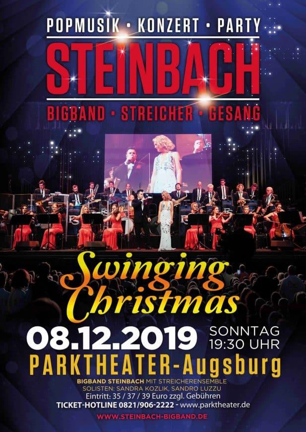 Das Plakat zur Swinging Christmas-Show in Augsburg