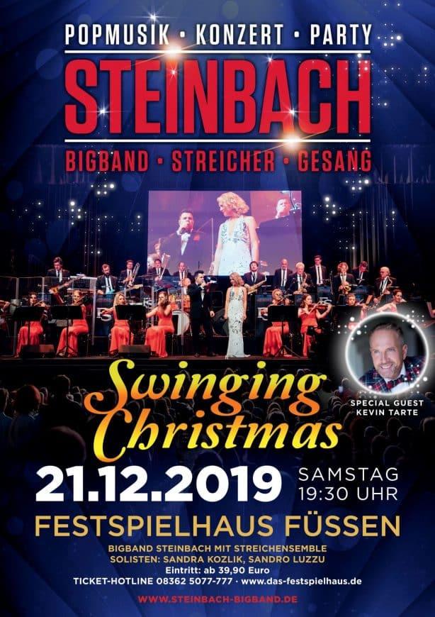 Plakat Swinging Christmas für Konzert im Festspielhaus Füssen