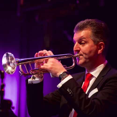 Max Steinbach ist als Trompeter mit von der Partie