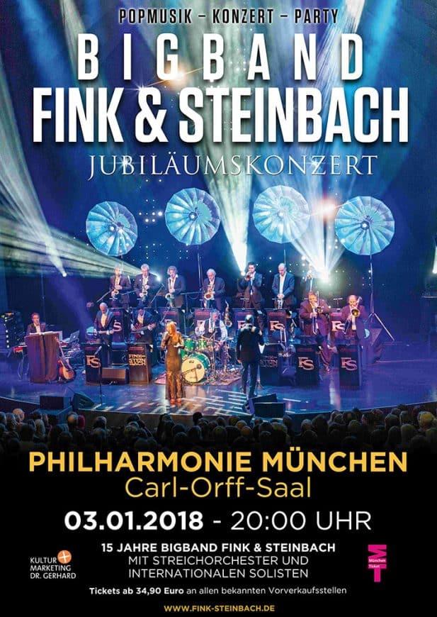 Plakat Bigband für Konzert in München